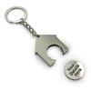 Porte-clef forme maison avec jeton 35x39x4mm avec votre logo image
