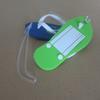Etiquette de bagage  en forme de sandale flip-flop personnalisable PVC  112 x 48mm  avec  LOGO image