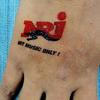 Faux tatouage dimension A7  (74x 105mm) avec impression personnalisée image