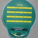 Tapis de souris personnalisé avec repose-poignet gel 245x210x22mm image
