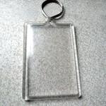 Porte-clé avec impression lenticulaire personnalisable image